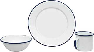 blue white graniteware