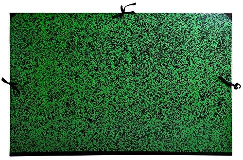 Exacompta 533400E Zeichenmappe Annonay, mit Verschlußband, DIN B1, 75 x 105 cm, 1 Stück, grün