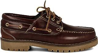 comprar comparacion PAYMA - Zapatos Náuticos Timber de Piel Seahorse Engrasada 3-Ojales. Piso Caramelo, Negro o Goma Track. Cierre Cordones o ...