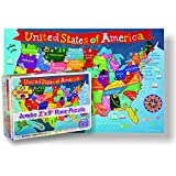 Round World Products RWPKP04 United States Floor Puzzle for Kids, 24' Height, 36' Length, 48 Pieces