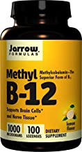 Jarrow Formulas Methylcobalamin (Methyl B12), Supports Brain Cells and Nerve Tissue, 1000 mcg 3 Pack