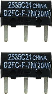 IT-Services Irro 2X D2FC-F-7N (20M) Kit de Reparación de Microinterruptor/Kit de Reparación apropiado para Mouse de computadora de Logitech, Razer, Roccat, SteelSeries y Otros