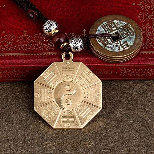 RXQCAOXIA Messing Tai Chi Spiegel voor Pettegola, antiek, vijftig, munt, sleutelhanger van brons 7