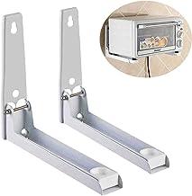 Soporte de pared plegable para horno de microondas, microondas, soporte de pared, soporte para montaje en pared, color blanco