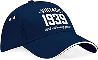 80th Birthday 1939 Baseball Cap Hat Gift Idea Present keepsake for Women Men