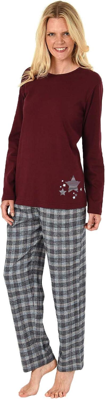 NORMANN WÄSCHEFABRIK Damen Flanell Pyjama Mix Mix Mix & Match - Oberteil mit Sterne Motiv - auch in Übergrößen, 281 201 90 994 B07NPLBTLN  Sonderaktionen zum Jahresende 3feab8