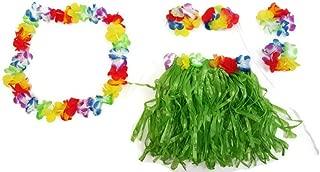 Playscene Hawaiian Summer Luau Party Child Hula Skirt Kit (5 Piece Kit)