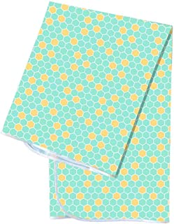 Youngever 42 Inch x 42 Inch Washable Highchair Splat Floor Mat, Splash Mess Mat, Food Catcher Art Craft Leak Proof Mat (Gr...