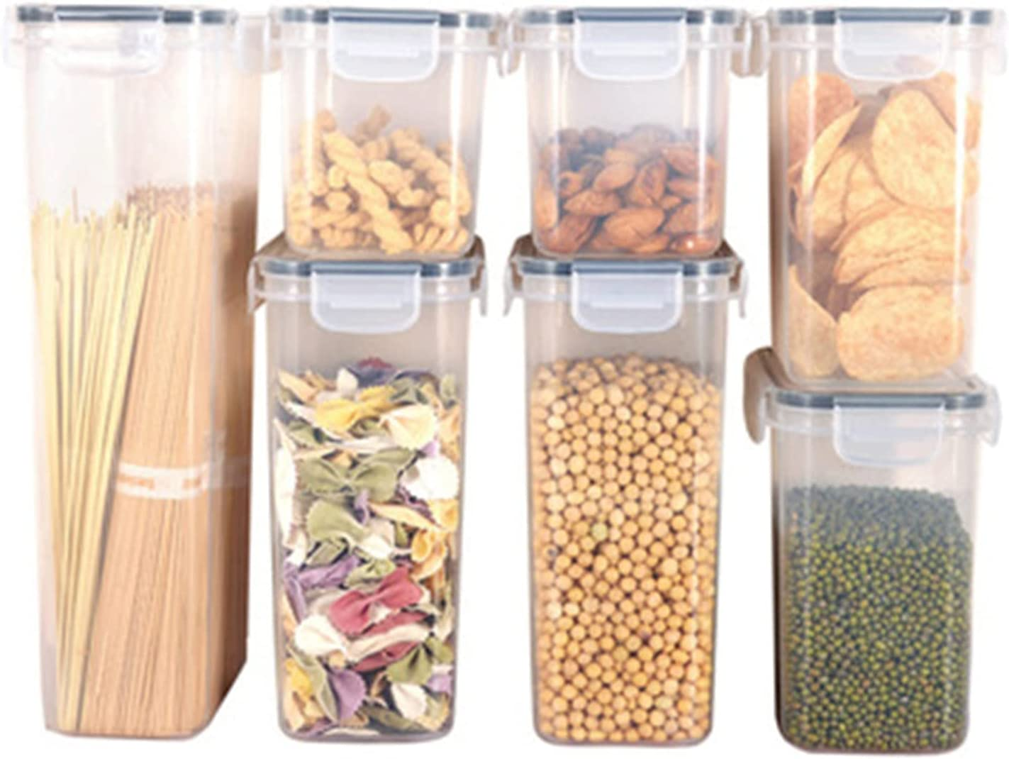 Airtight Food Storage Containers Set Canisters Max 64% OFF Kitchen for Max 65% OFF Flour