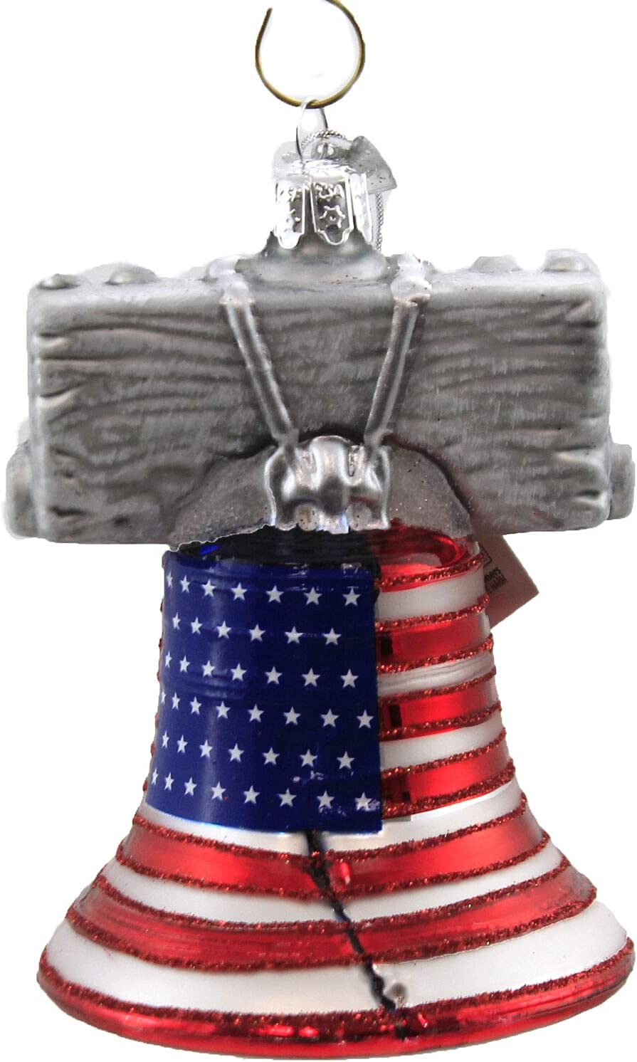 Patriotic Liberty Bell Glass Christmas Ornament NB1444 OFFicial site †Tree New popularity