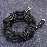 SHYEKYO Cable de Audio óptico, Cable de Fibra óptica de 15 m de Longitud para TV para Monitor para(15 Metros)