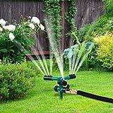 YUEMA Rasensprenger Rasensprinkler Automatischer Rotierender Sprinkler Um 360 Grad Einstellbarer Sprinkler Zur Bewässerung Von Gartenrasen (Grün)