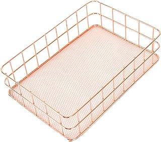 سلة تخزين معدنية شبكة قفص خمر المطبخ مكتب التخزين المنظم