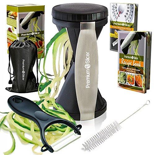 kitchen supreme spiral slicers Premium V Slicer, B00KIVD1PC, Black