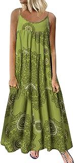 comprar comparacion COZOCO Mujer Verano De Playa Vestido De Verano Vestido Verano Mujer Camiseta AlgodóN Casual Tallas Grandes Vestido De Tall...