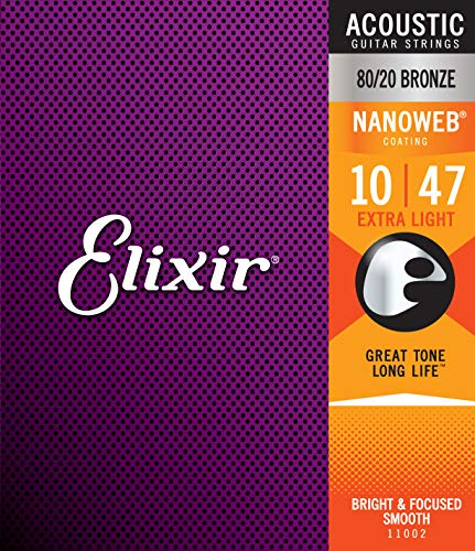 Elixir 11002 Acoustic guitar Saiten 6 Extra Light Nanoweb Coating