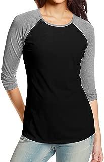 Womens 3 4 Sleeve Raglan Baseball Casual T-Shirts (S-3X, Plus Sizes)