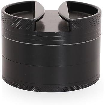 Premium in alluminio Grinder con setaccio e fulmini Magnetico Top Viola per