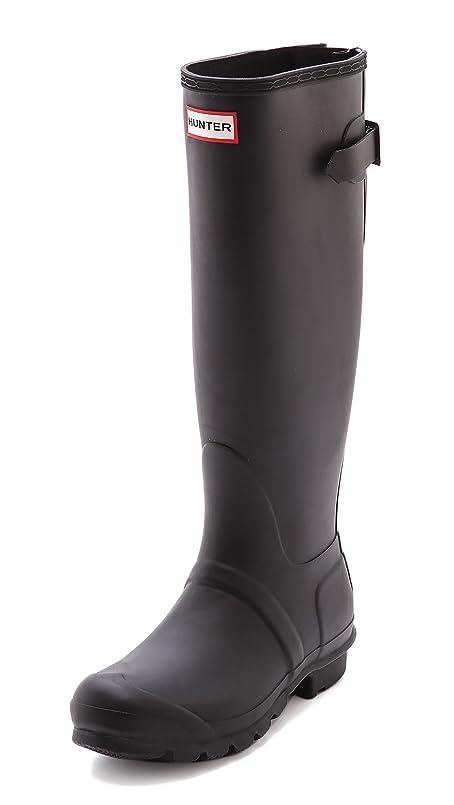 シソーラスブランド意気込み(ハンター) Hunter Boots Original Back Adjustable Boots Black(本物 女性ブーツ レインシューズ) (並行輸入品)