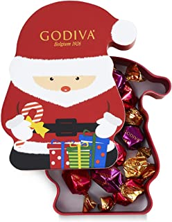 Godiva Chocolatier Assorted Chocolate Truffles G Cube Santa Box, Holiday Collection, 8-Pieces, 2.3 Ounce