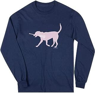 Girls Lacrosse Long Sleeve T-Shirt | LuLa The Lax Dog