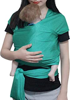 Vlokup Baby Wrap Sling Carrier for Newborn, Infant, Toddler, Kid | Breathable Lightweight Stretch Mesh Water Sling | Nice for Summer, Pool, Beach, Swimming | Perfect Shower Gift Green