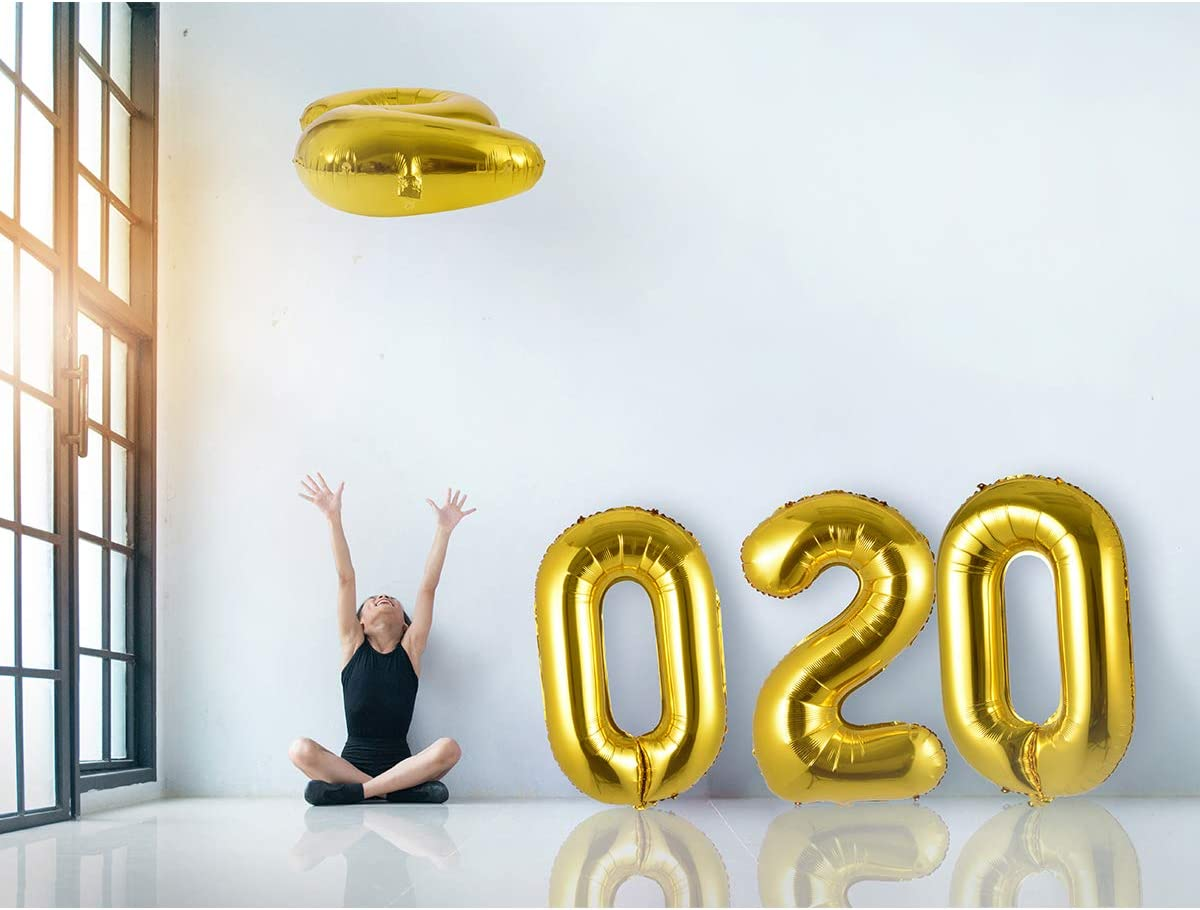 "Large Letter Balloon 40/"" Foil Helium Balloon Gold//1 Pcs HP096"