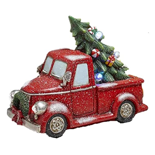 Vintage Red Truck Christmas Decor.Vintage Red Truck Christmas Decor Amazon Com
