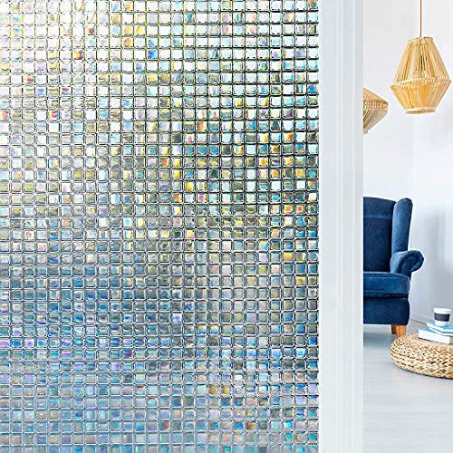 KONGLZG Película para Ventanas de Vidrio Opaco Esmerilado Impermeable para Ventana Pegatinas de Vidrio Adhesivas de privacidad decoración del hogar del Dormitorio 45x200cm