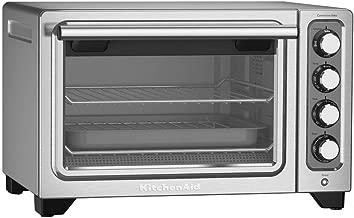 KitchenAid 12-Inch Compact Convection Countertop Oven - Contour Silver Refurbished (KCO253CU)