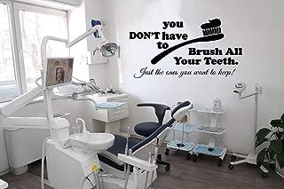 Dental Clinic Wall Decals Decor - Dentist Tooth Teeth Quotes Art Stickers Decorations - Vinyl Pictures for Office Studio Shop Home Kids Room Bedroom Door Window DC050