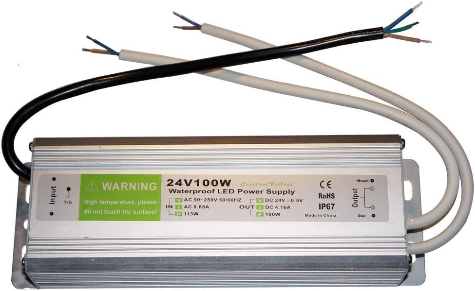 Waterproof IP67 Many popular brands LED Driver Transformer 100 24V Supply Power Watt Max 69% OFF