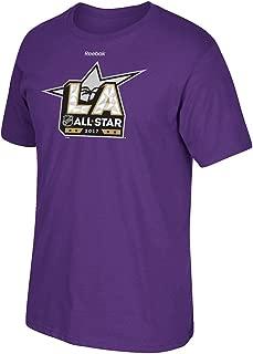 adidas 2017 NHL All Star Game Los Angeles Reebok Official Logo Purple T-Shirt Men's