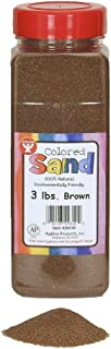 Hygloss Products Colored Play Sand - Assorted Colorful Craft Art Bucket O` Sand, Brown, 3 lb
