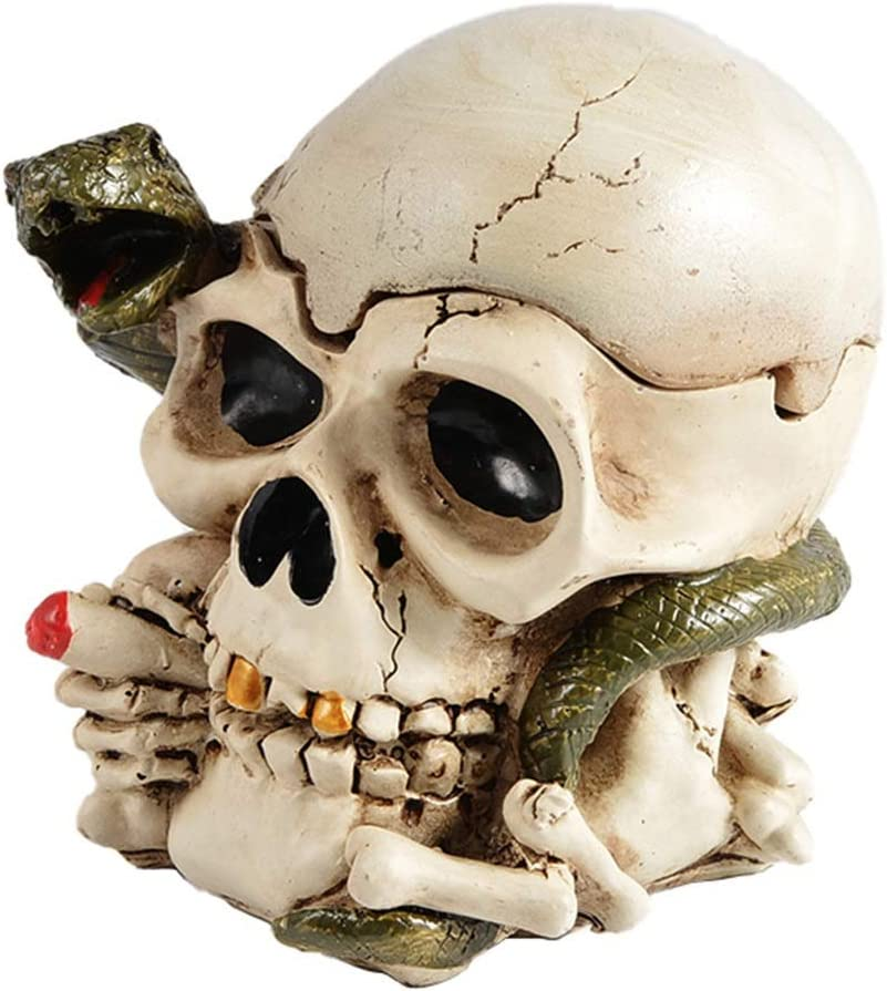 2021 model Ashtrays Skull Gift for Boyfriend Decorat and Resin Cover Friend All items in the store