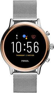Fossil Womens Digital Watch, Digital Display and Stainless Steel Strap FTW6061