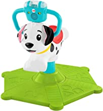 Fisher-Price GHY03 Bounce and Spin Puppy, Stationary Musical Ride-On Toy, Multicolour