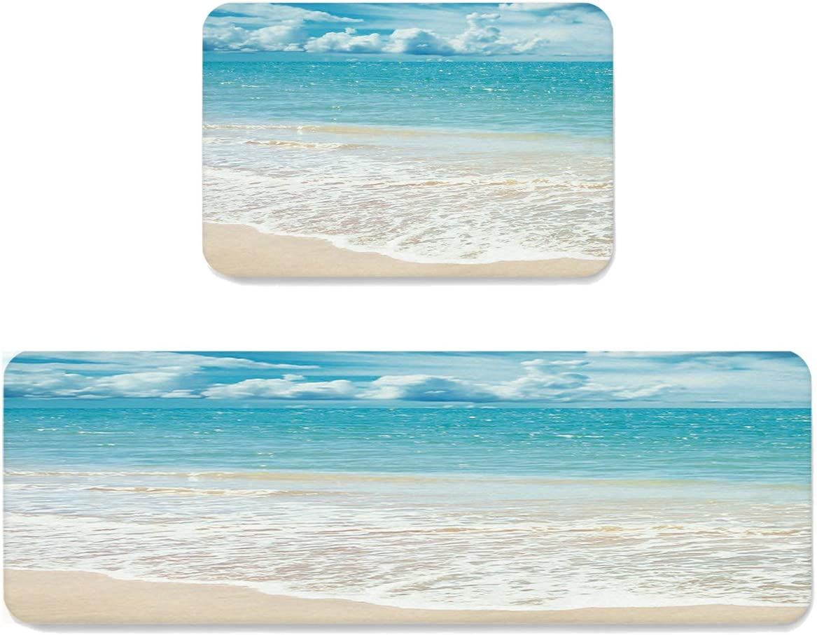 Infinidesign Ocean Themed Kitchen Rugs and 2 Cheap mail Colorado Springs Mall order shopping Pieces Mats Set Su