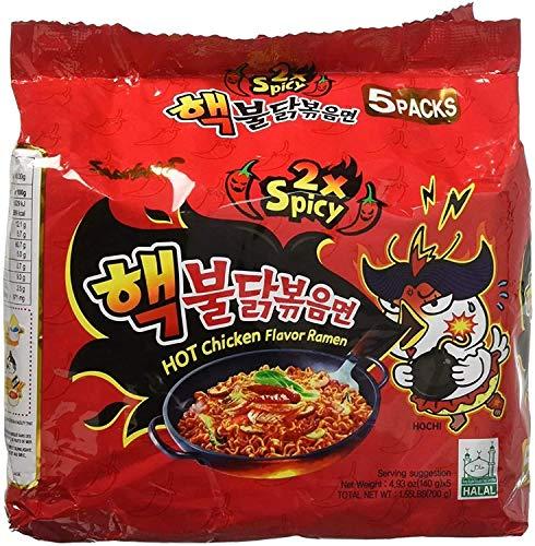 SamYang Instant Bratnudelne Super Hot Chicken - Ramen, Double Spicy (Halal) (5er Pack)