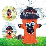 Sunshine smile Juguete de Rociadores,Juguete de Agua de Rociadores,Rociador de Agua para niños,Aspersor para niños,Juegos para NiñOs Jardin,Aspersor de Juego de Verano (Naranja)