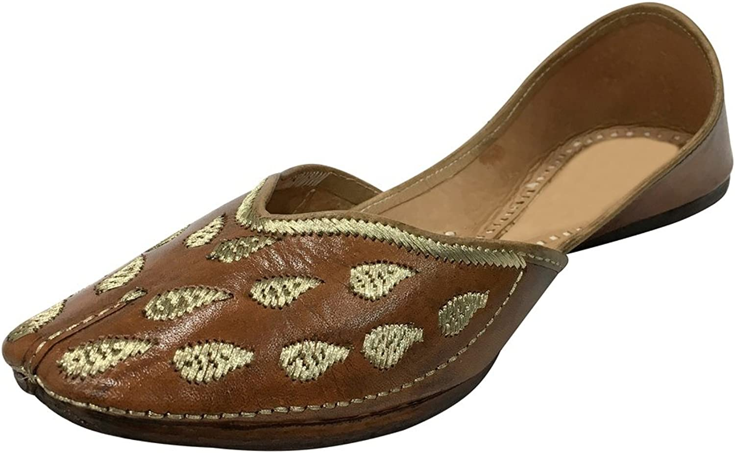 Step n Style Indian Khussa Beaded shoes Flats Leather Handmade Jutti Ballet shoes