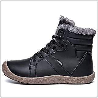 Hangshushiy Men Winter Boots Male Snow Ankle Waterproof Warm Fur Casual Boot Chaussure Homme
