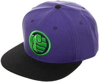 Mens Marvel Incredible Hulk Hat Color Block Hulk Snapback Hat