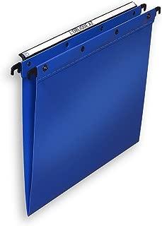 L Oblique Suspension File Polypropylene Vertical For 100 Sheet V-Base Foolscap Blue Ref L380210 [Pack Of 25]