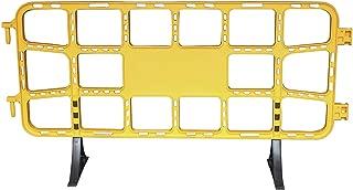 Valla plástico obra de 2 metros amarilla. Valla contención peatonal amarilla