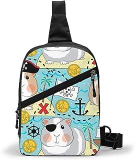 Jumbo Pirata cobayas paquete de pecho multipropósito Crossbody al aire libre bolsa de hombro mochila mochila de gran capacidad casual deporte mochila para senderismo viaje deporte