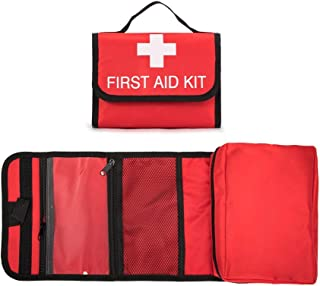 Jipemtra First Aid Bag Tote Empty Small First Aid Kit Bag Outdoor Travel Rescue Pouch First Responder Medicine Bag Pocket Container for Car Home Office Sport Outdoors