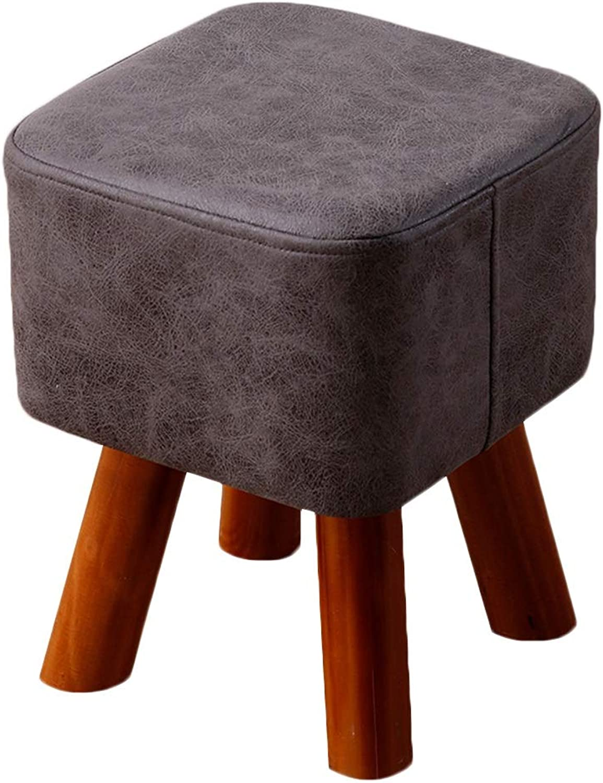 JIANFEI Footstool PU Cushion High Elasticity Waterproof Load Bearing 200KG,4 colors 2 Size (color   3 , Size   28x28x34cm)