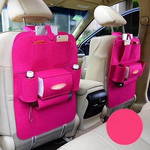 Tenniser 汽车收纳器后座汽车后座座椅保护装置儿童旅行用多口袋汽车座椅收纳器汽车收纳整理器