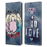 Head Case Designs sous Licence Officielle Batman DC Comics Gomme à Bulles Harley Quinn Graphiques Coque en Cuir à Portefeuille Compatible avec Samsung Galaxy Note9 / Note 9